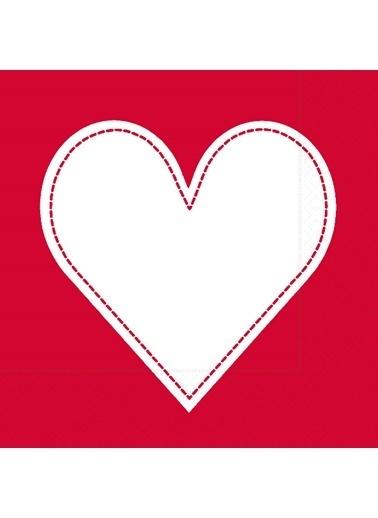 Dünya Style Heart Red Peçete Renkli